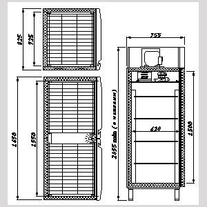 холодильный шкаф Carboma