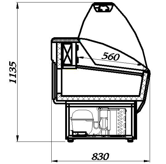 холодильная витрина холодильная витрина Полюс